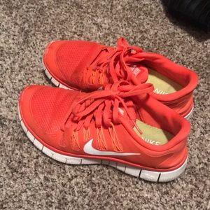 Nike free run tennis shoes size 6.5